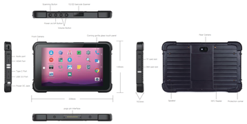 "8"" Android 10 Industrie Tablet IP67"